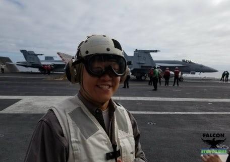 On the USS Carl Vinson
