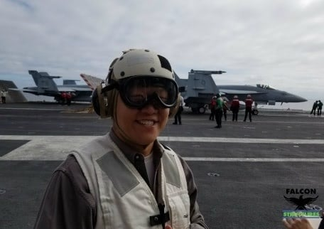 On the USS Carl Vinson