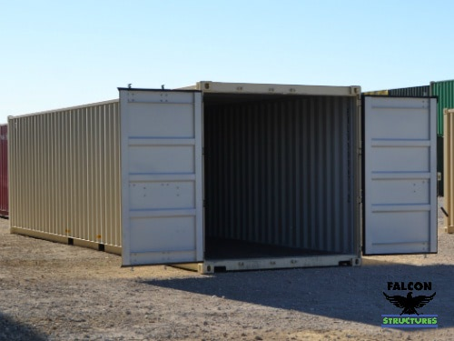 Shipping Container with Open Cargo Doors