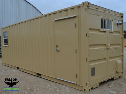 Shipping Container Office with Personnel Door