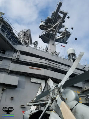 The Island of the U.S.S Carl Vinson