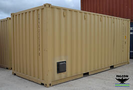 With proper maintenance, you shipping container can look tidy for years.