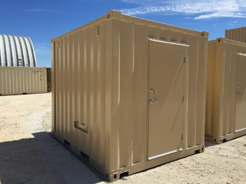 Shipping Container Equipment Enclosure Exterior
