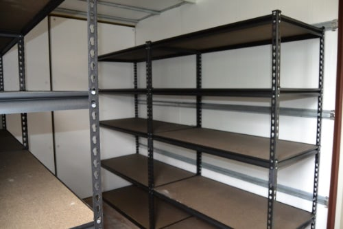 40ft Climate Controlled Shelving Shipping Container