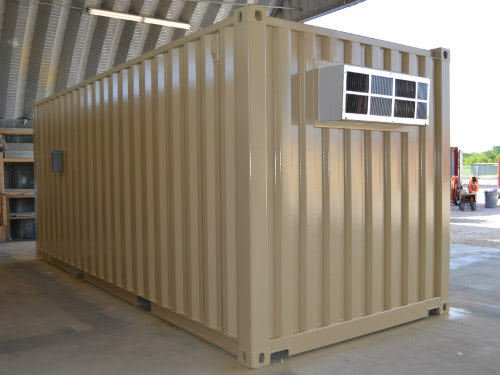 20ft Climate Controlled Shipping Container Exterior