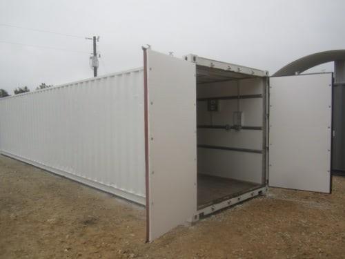 40ft File Room Exterior with open cargo doors