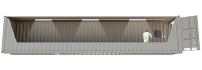 40ft Lighted Storage Container FS-P-40LB-ST