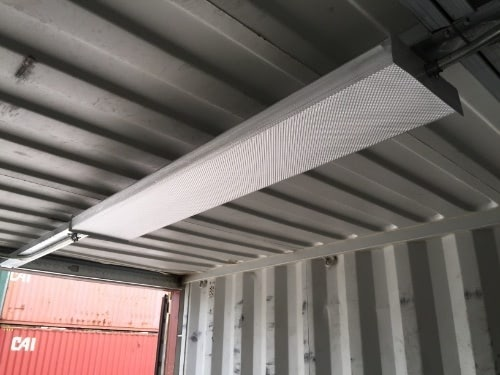 Overhead Lighting in a shipping container