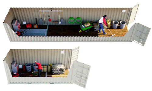 Click to learn about conex containers modified to have vents and promote air flow.