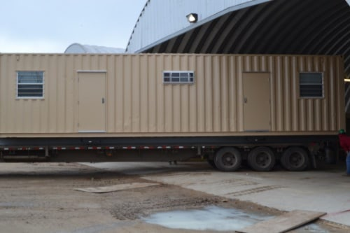 40ft Dual Office Shipping Container Exterior with Personnel Doors