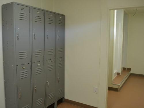 Shipping Container Locker Room Comfort Station Interior