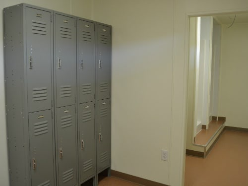 Shipping Container Locker Room Interior
