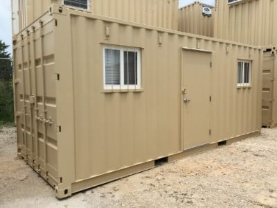 20ft Open Office shipping container exterior