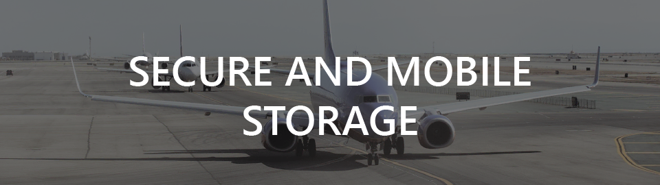 Airport construction case study banner: secure and mobile storage