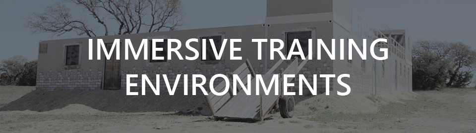 Banner for military mout village case study: immersive training environments