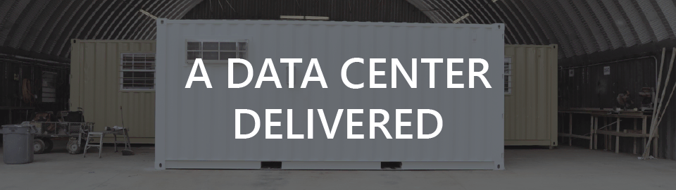 Banner for containerized server room: a data center delivered