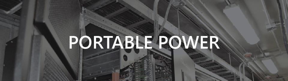 Banner for case study: modular equipment shelter for UPS, portable power