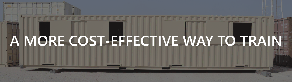 Banner for container-based training structure: a more cost-effective way to train