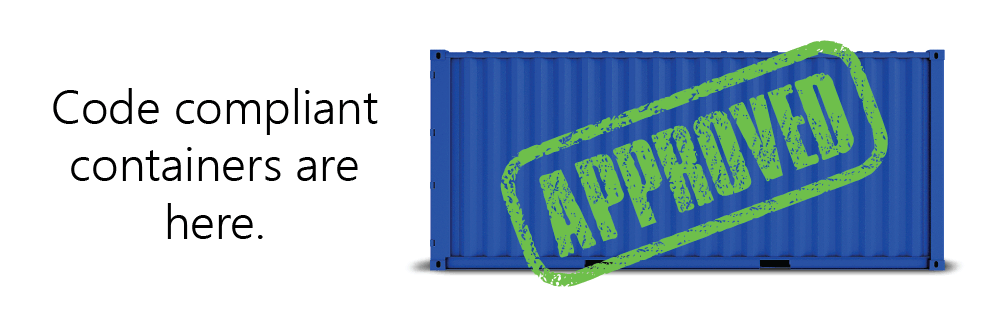 You can permit shipping container buildings.