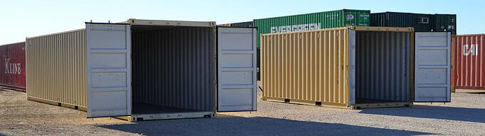 We have 20-foot and 40-foot modified ISO containers for storage.