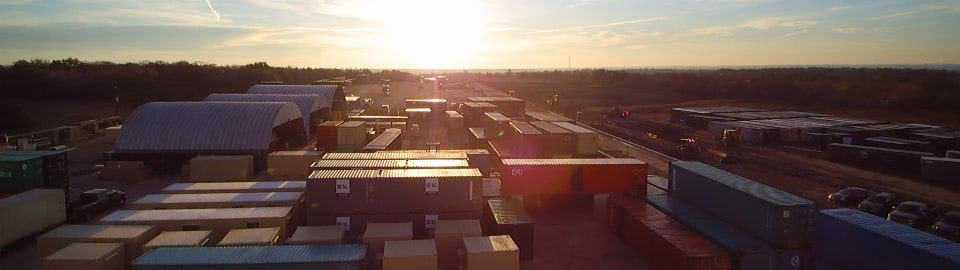 Falcon Yard and Domes with shipping containers ready for modification.