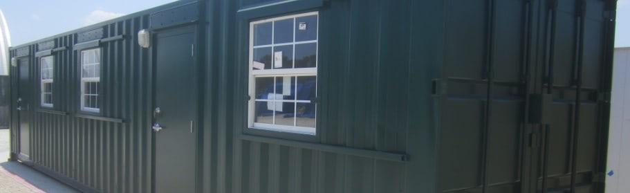 container workshop exterior