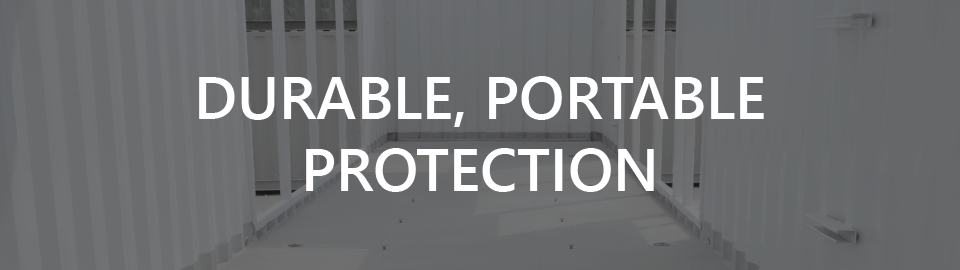 Banner for customer generatore enclosures for industrial uses: durable, portable  protection