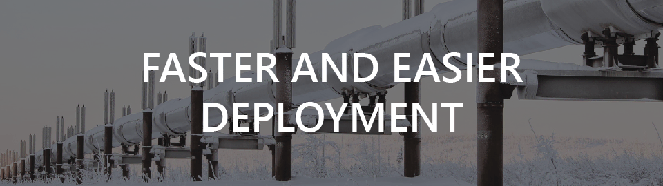 Banner for enclosures and control rooms for oil gas pipeline monitoring: faster and easier deployment