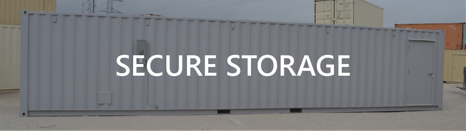 Banner for onsite storage containers as tool buildings.