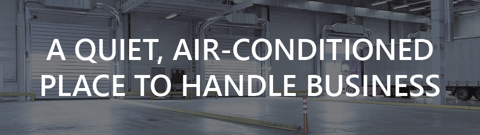 Banner  for Mobile Container Offices for Warehouse: a quiet air-conditioned place to handle business