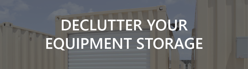 Banner image for onsite storage containers: declutter ranching equipment