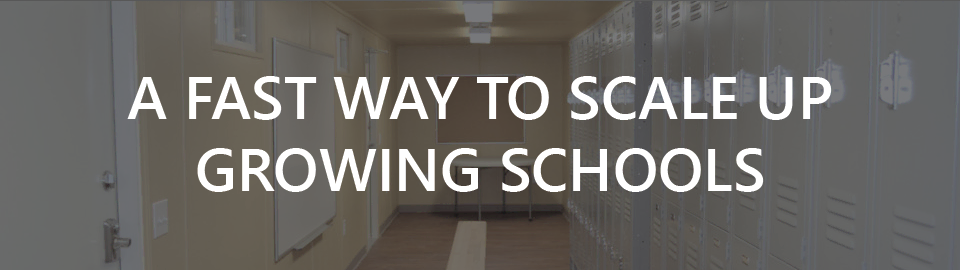 Banner for portable storage for schools: a fast way to scale up growing schools