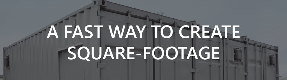 Banner for container based after action review rooms: a fast way to create square-footage