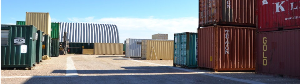 Banner image of the Falcon Structure Shipping Container Modification Facility