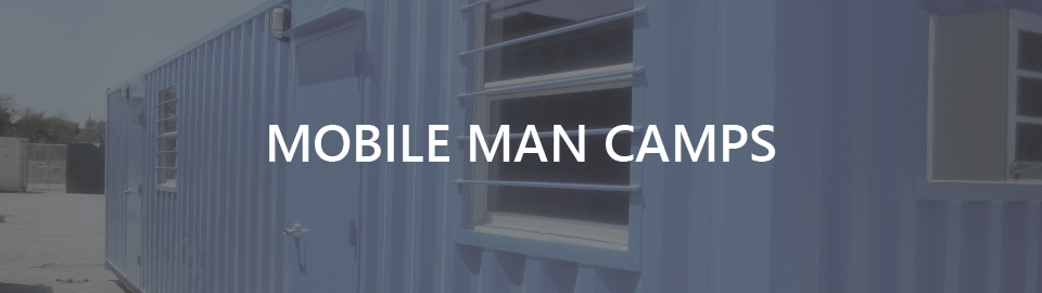 Banner: Mobile oilfield man camps for Kinder Morgan