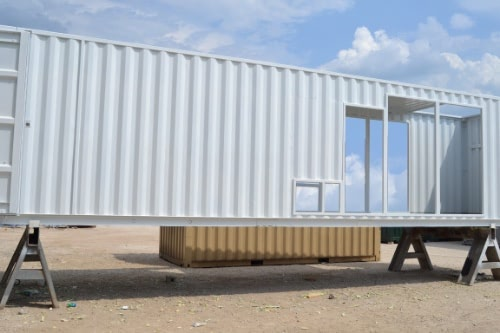 Falcon Structures manufactures equipment enclosures for generators out of repurposed shipping containers.