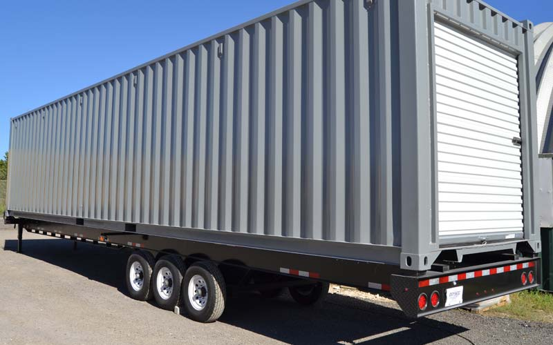 Ballhitch container trailer