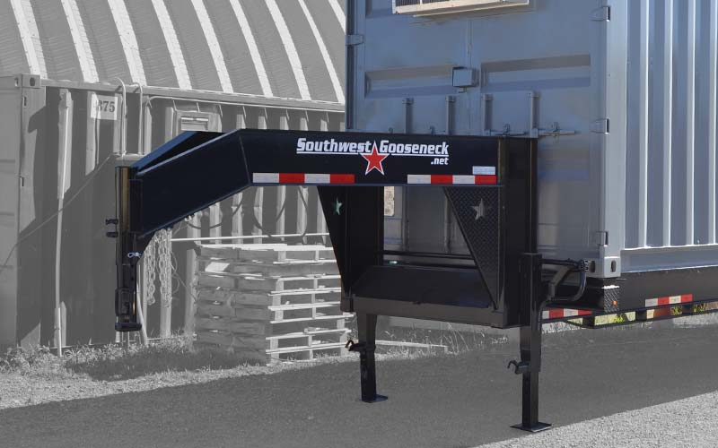 Gooseneck container trailer