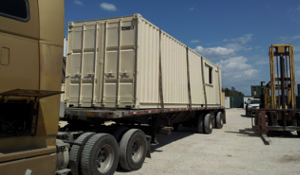 Portability makes containers a great option for temporary housing.