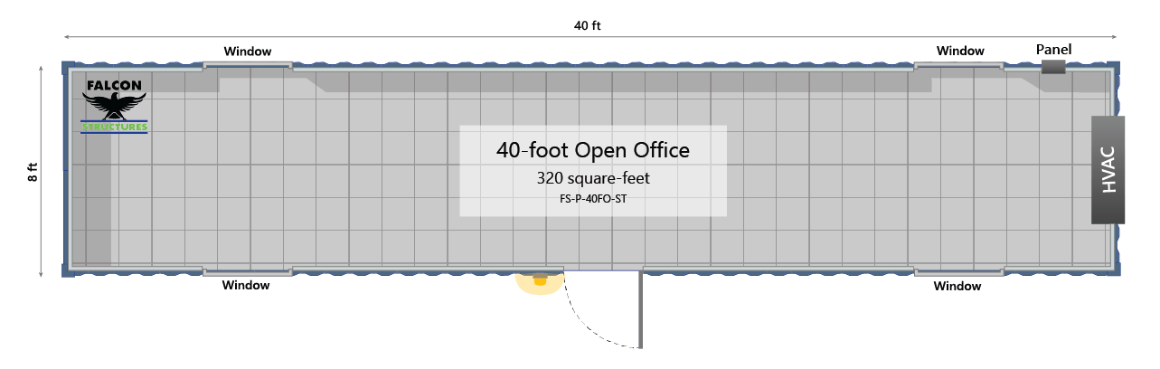 40' Portable building or container office.