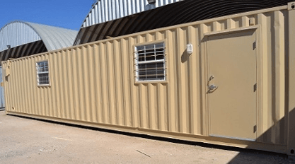 Construction companies use modified conex containers as offices.