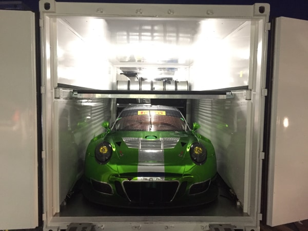 Black Swan Racing Shipping Container Garage Interior