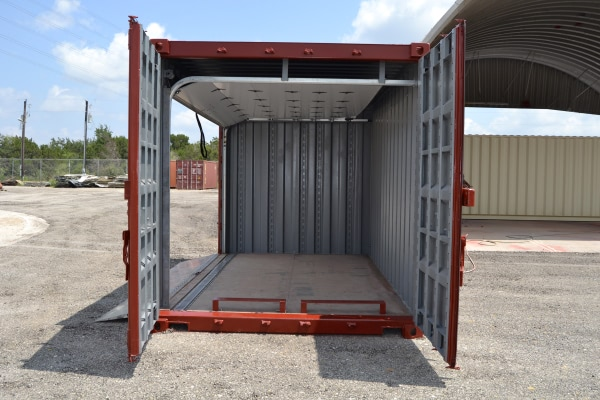 Open Modified Shipping Container Side