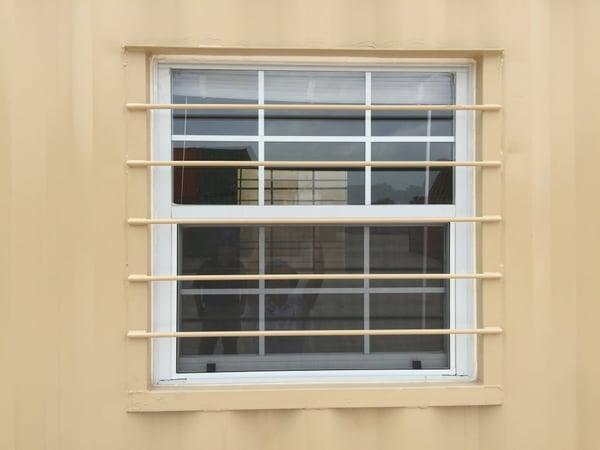 Shipping Container Burlar Bar Window