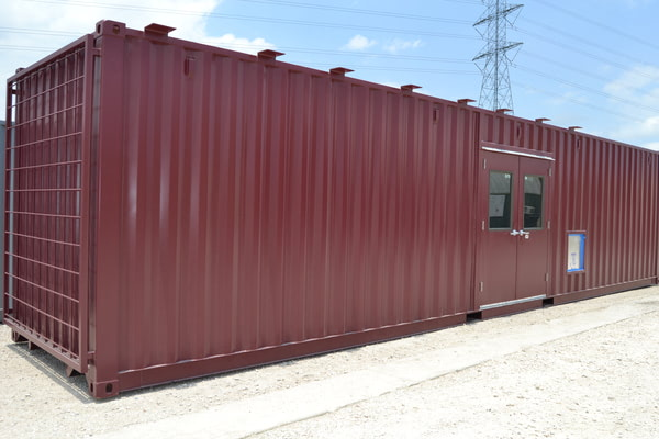 Shipping Container Mobile Greenhouse Front View
