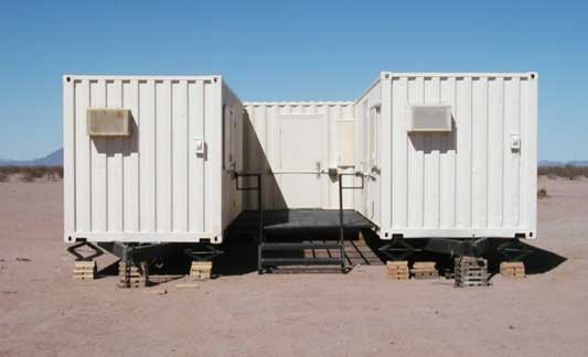Border Patrol housing container exterior