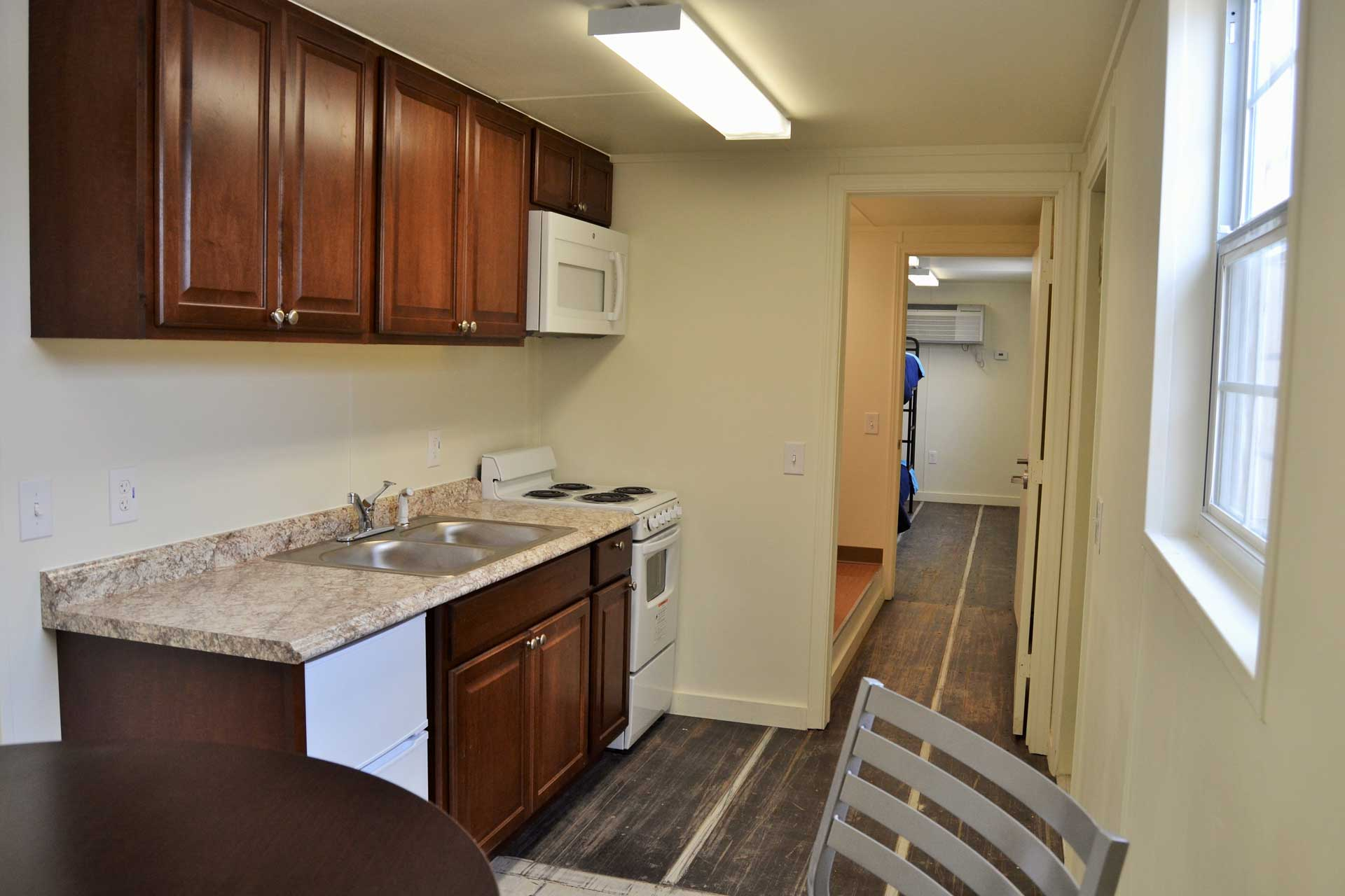 Border  Patrol housing kitchenette