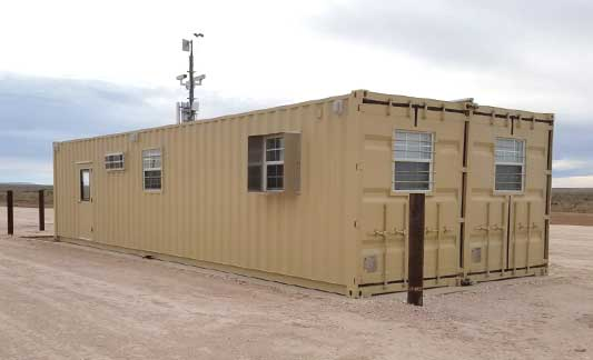 Double-wide container office for the U.S. Airforce