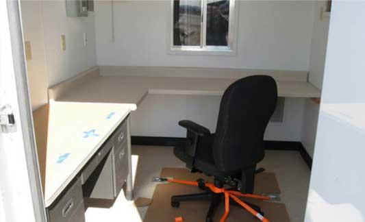 Lockheed Martin container office interior