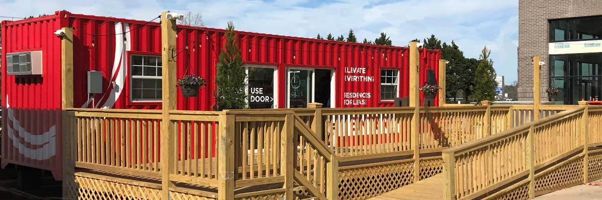 What can be done with shipping containers?